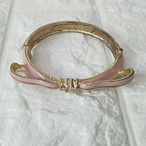 Rachel Leigh Gold Pink Bow Bracelet